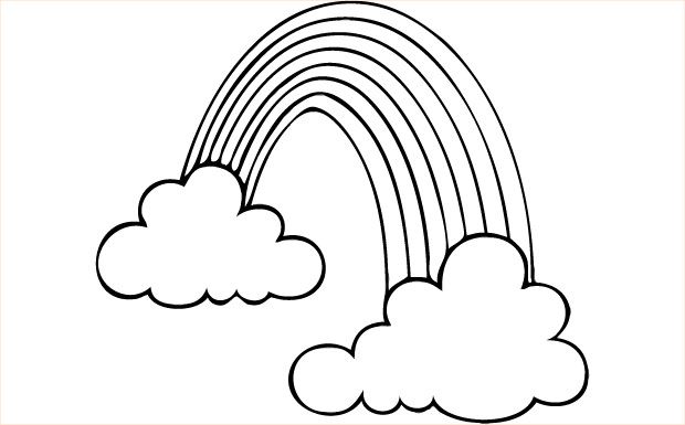 Rainbow black and white clipart picture free Rainbow Clipart Black And White - 59 cliparts picture free