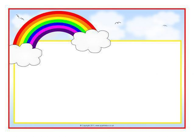 Rainbow border clipart jpg freeuse download Rainbow Border Clipart 8 - 637 X 450 | rainbow | Page ... jpg freeuse download