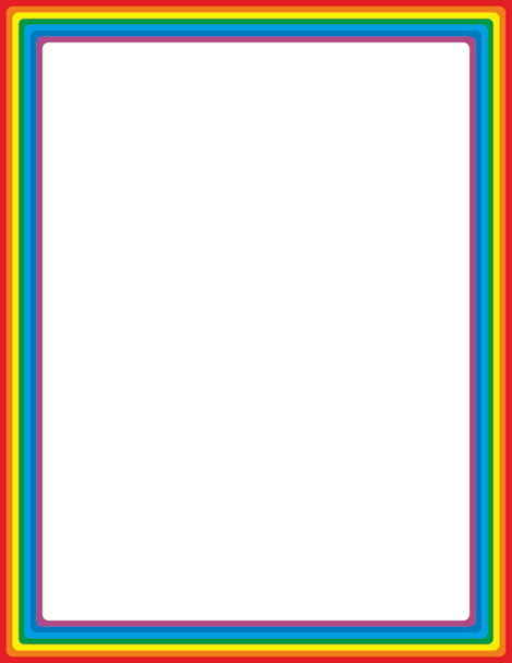 Rainbow border clipart png free download Pin by Muse Printables on Page Borders and Border Clip Art ... png free download