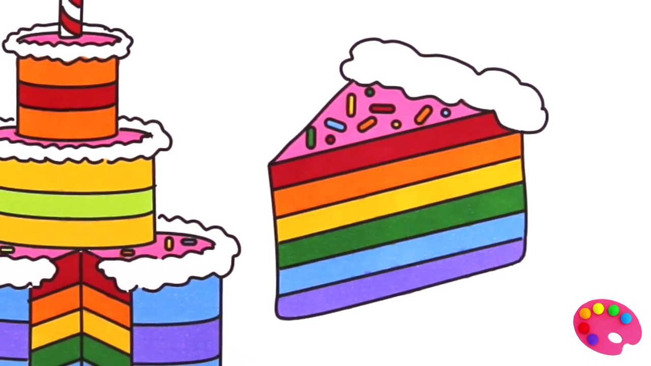 Rainbow cake clipart clip black and white library Rainbow cake clipart 7 » Clipart Portal clip black and white library