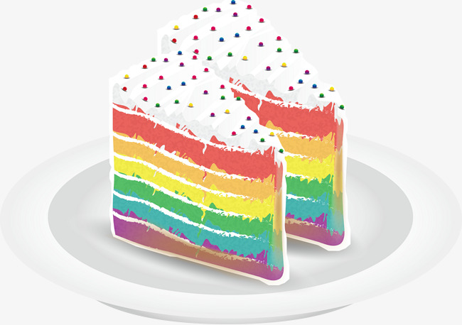 A Rainbow Cake, Rainbow Vector, Cake Vec #95910 - PNG Images ... svg transparent download