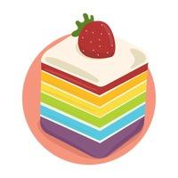 Rainbow cake clipart png free stock Dessert Desserts Rainbow Cake Cake Cakes Pastry Pastries ... png free stock