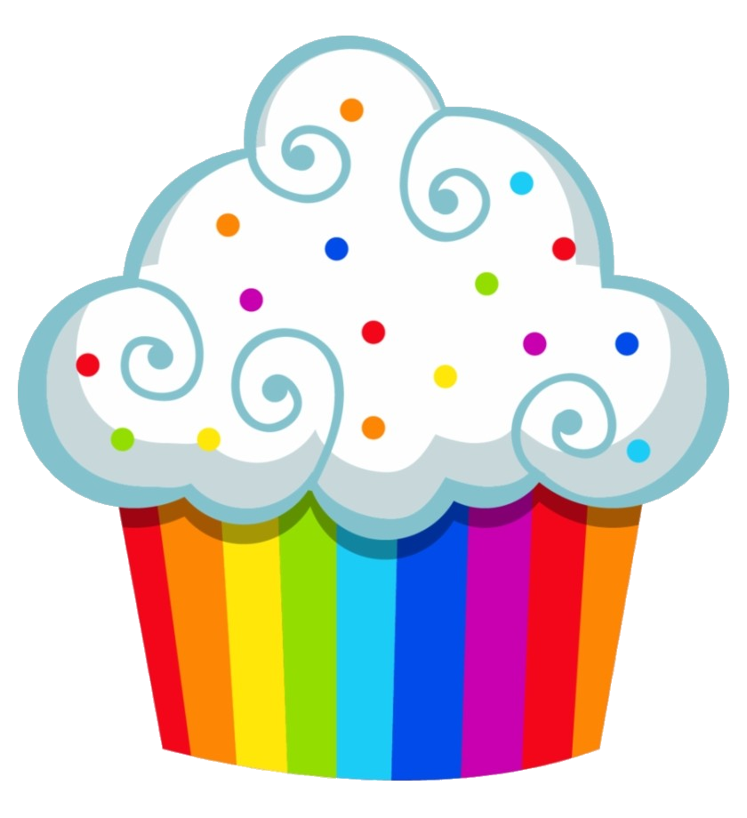 Cupcake Rainbow Cake Clipart Cupcakes Clip Art Within Png ... banner transparent library