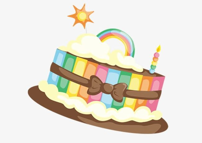 Rainbow Cake PNG, Clipart, Cake, Cake Clipart, Cake Clipart ... image black and white download