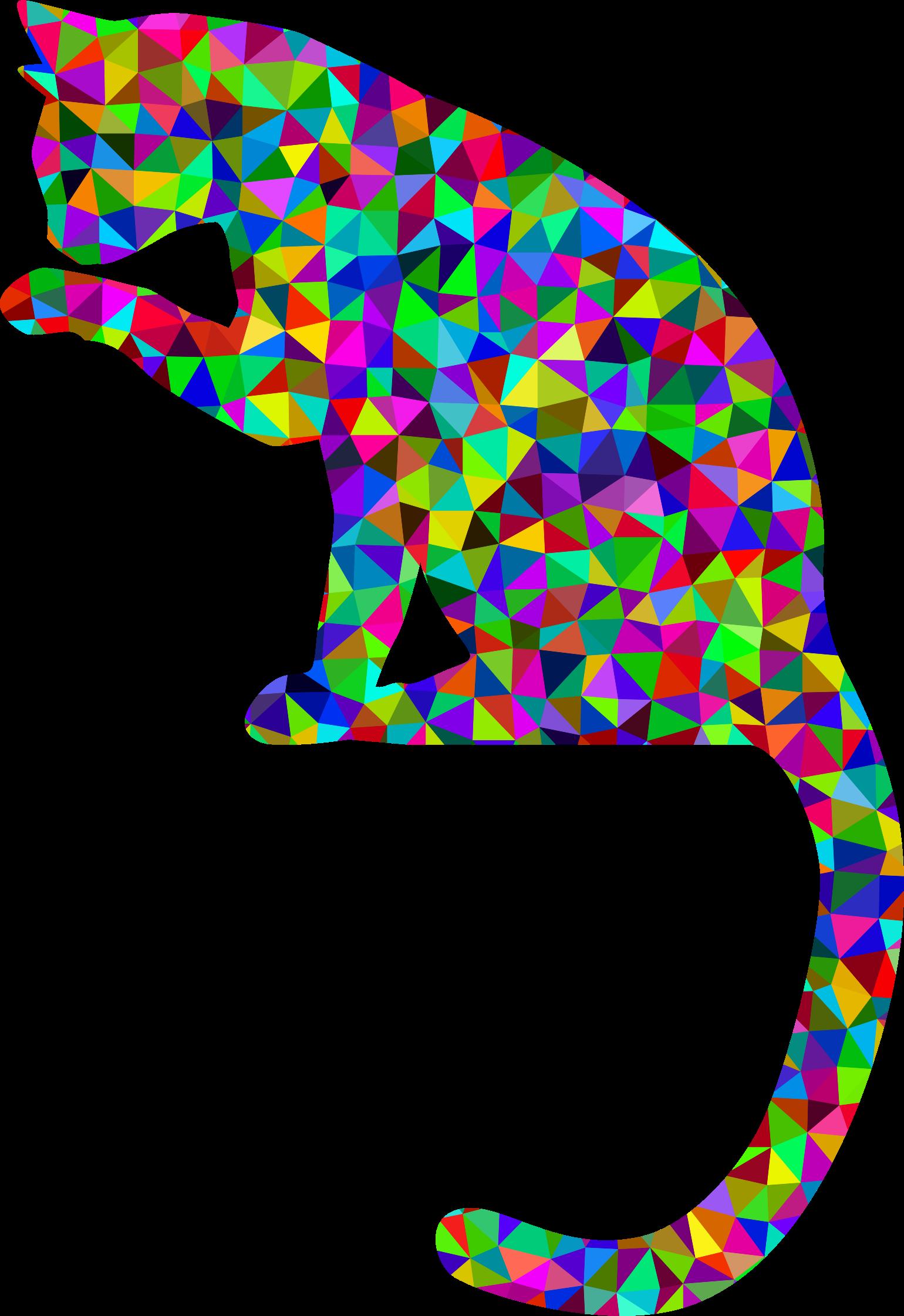 Rainbow cat clipart jpg transparent Clipart - Prismatic Low Poly Cat jpg transparent