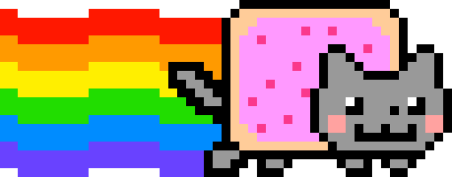Rainbow cat clipart png free library Nyan Cat PNG Images – What is Nyan Cat? | PNG Only png free library