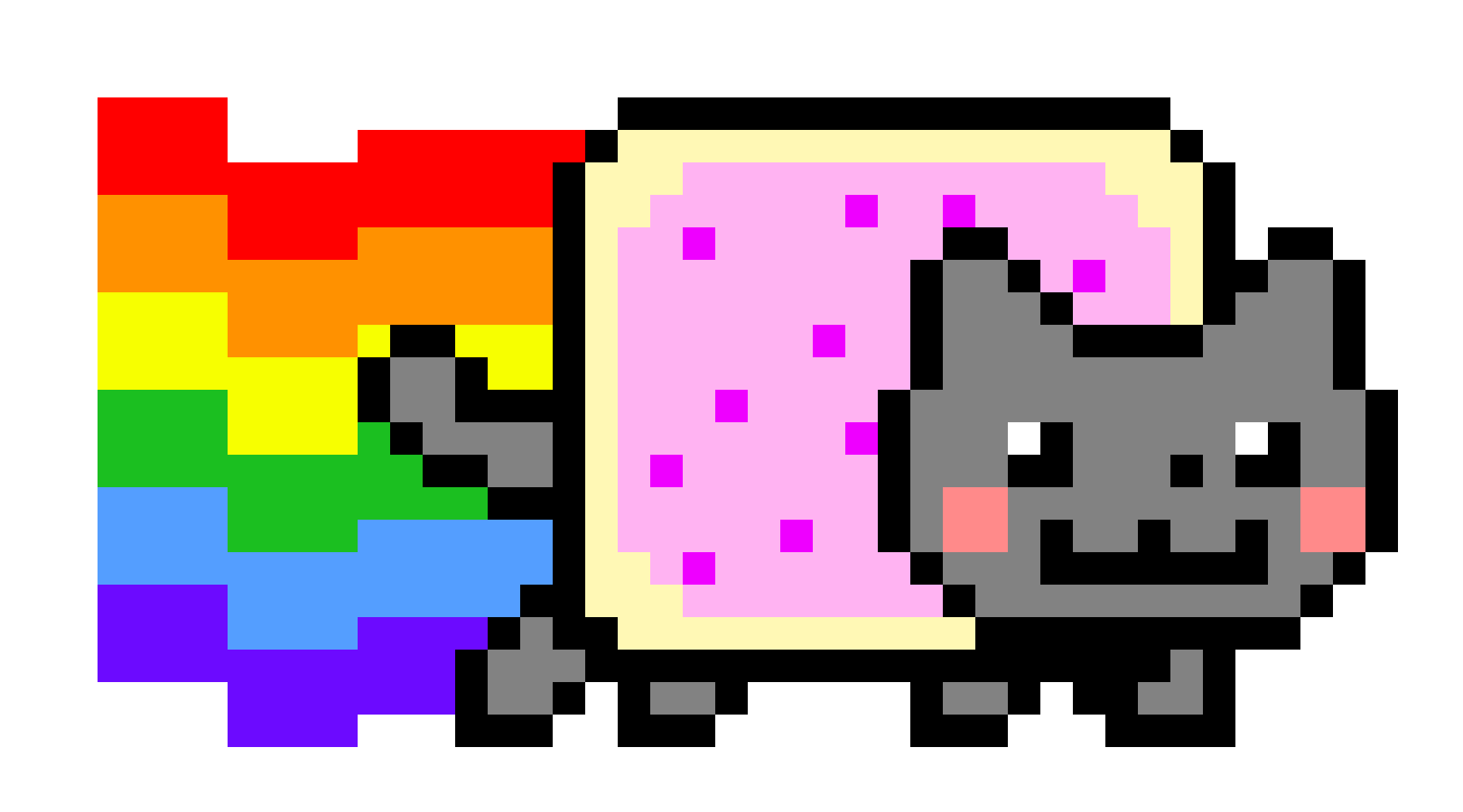 Rainbow cat clipart clip art freeuse 28+ Collection of Nyan Cat Clipart | High quality, free cliparts ... clip art freeuse