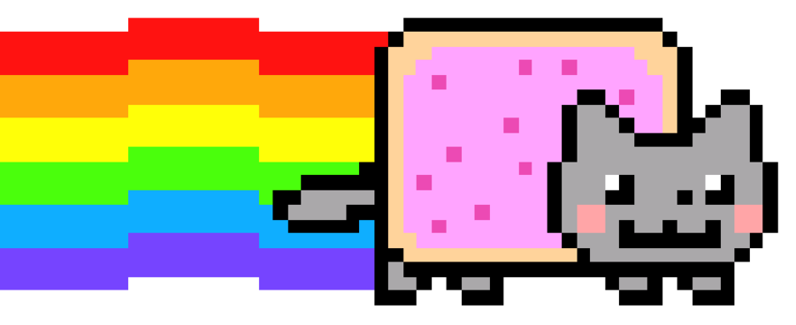 Rainbow cat clipart jpg transparent library Nyan Cat PNG Images – What is Nyan Cat? | PNG Only jpg transparent library