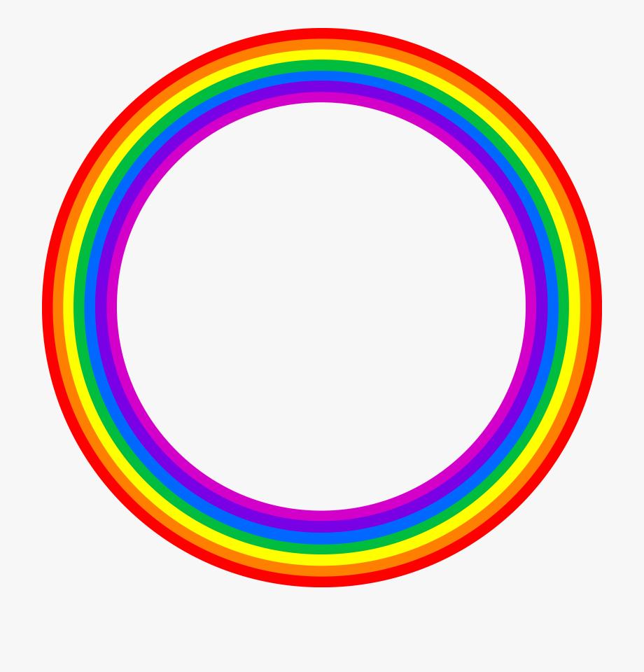 Rainbow circles clipart clip free Rainbow Circle Border Clipart - Hong Kong Phooey, Cliparts ... clip free