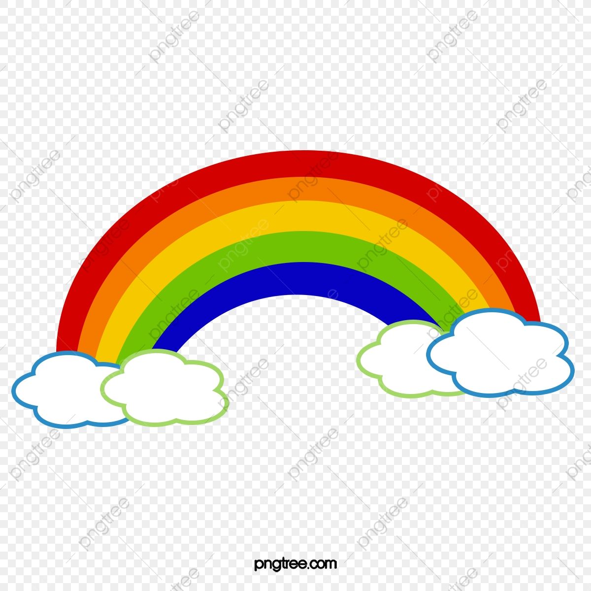 Clouds And Rainbow, Baiyun, Rainbow, Clouds PNG Transparent ... clipart library