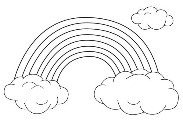 Rainbow color sheet clipart clip art download Clipart of black and white rainbow color sheet - ClipartFest clip art download