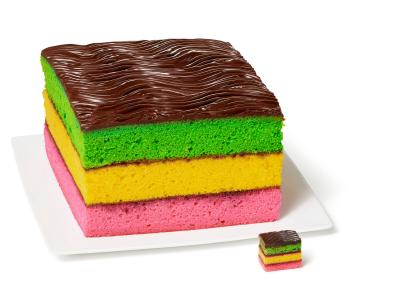 How to Make a Rainbow Cookie Cake | Easy Baking Tips and ... clip art black and white stock