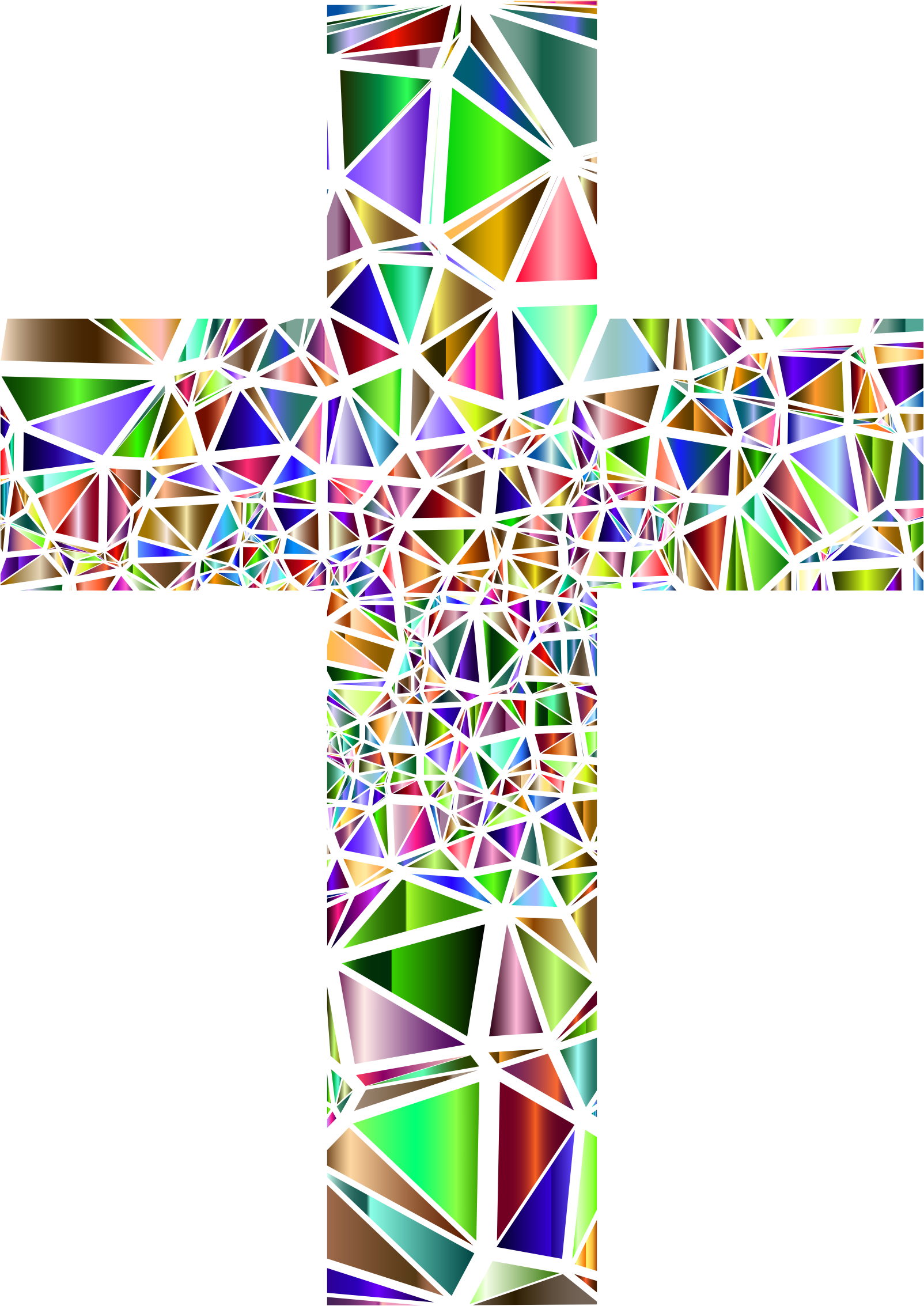 Stained glass cross clipart graphic royalty free Clipart - Low Poly Stained Glass Cross 5 No Background graphic royalty free
