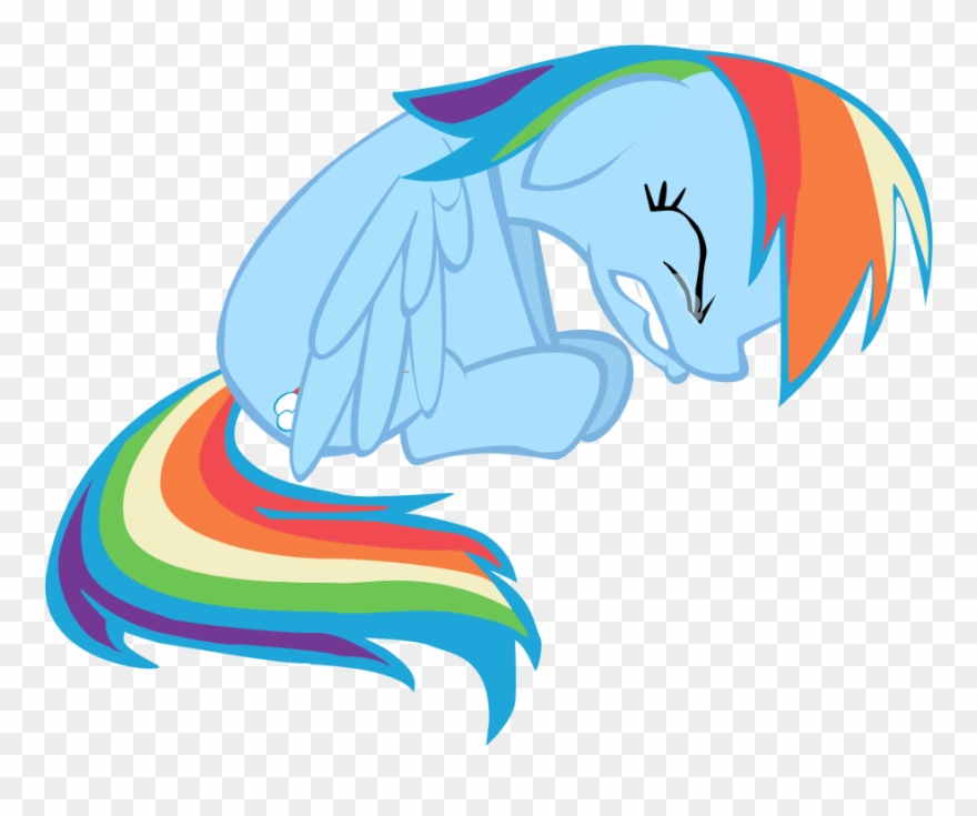 Clip Arts Related To - Mlp Rainbow Dash Sad - Png Download ... svg freeuse download