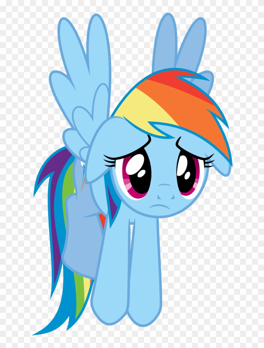 Rainbow Dash Sad Download Clipart (#2513682) - PinClipart svg library stock