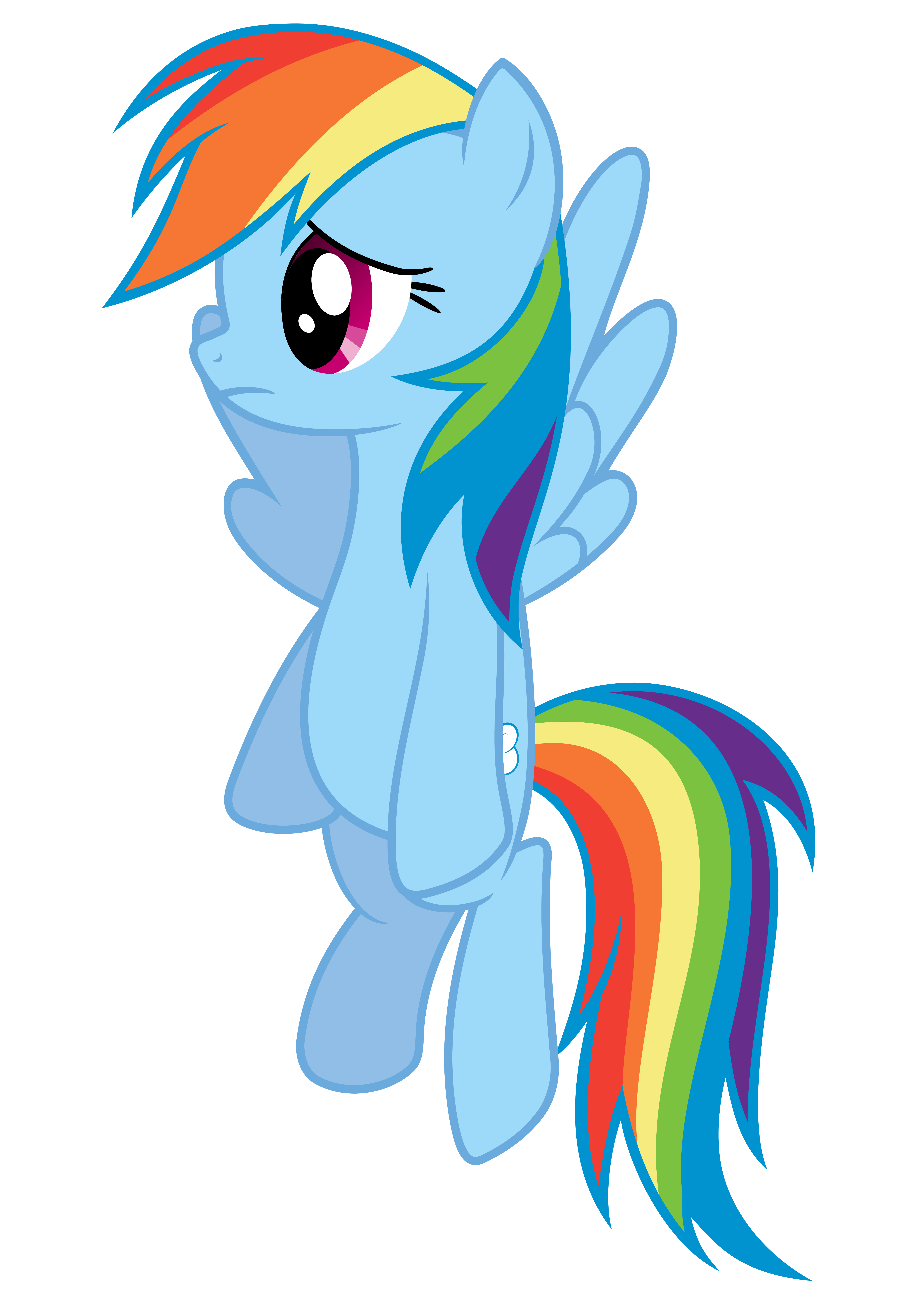 Rainbow Dash Vector - :( by Anxet.deviantart.com on ... graphic royalty free