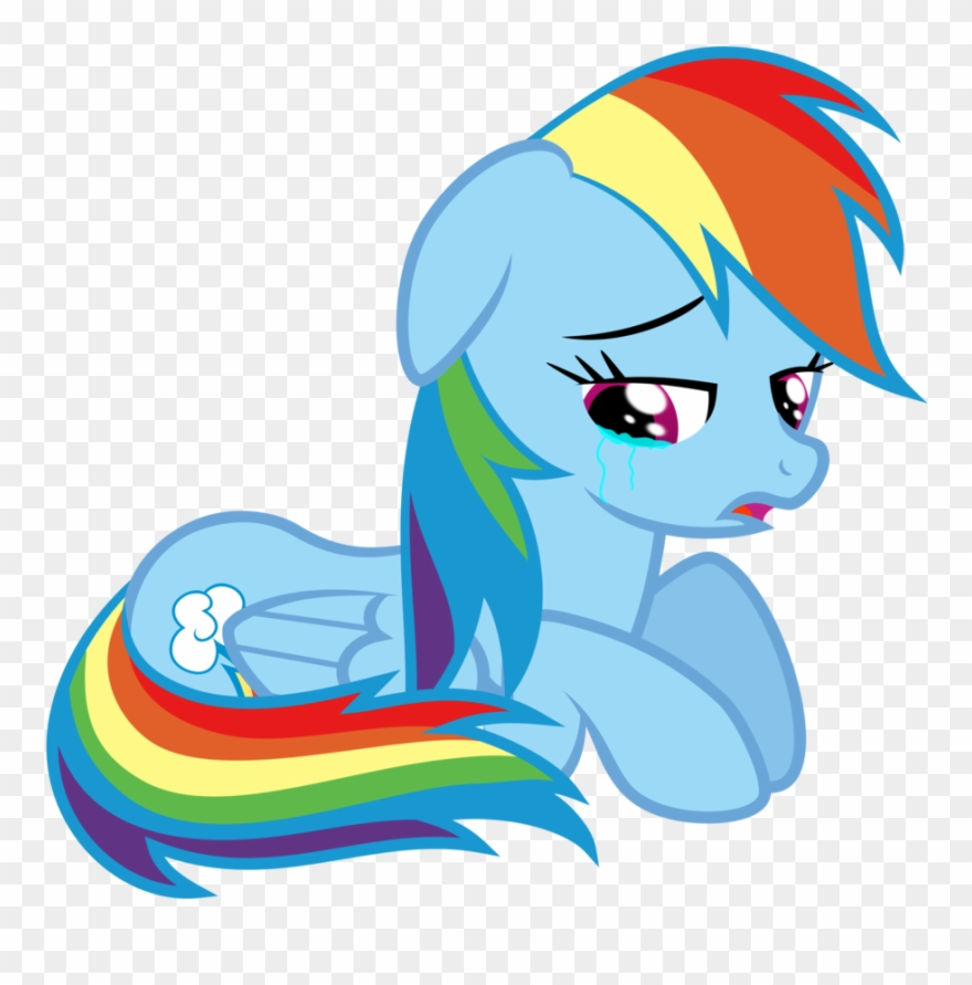 Crying Clipart Transparent - Rainbow Dash - Png Download ... clip art free library