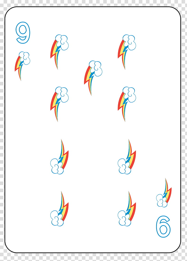 Rainbow deck cards clipart jpg free MLP FiM Playing Card Deck, blue of diamond playing card ... jpg free