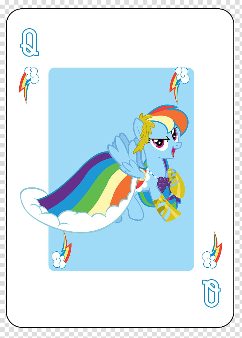 Rainbow deck cards clipart svg free library MLP FiM Playing Card Deck, My Little Pony Rainbow Dash Queen ... svg free library