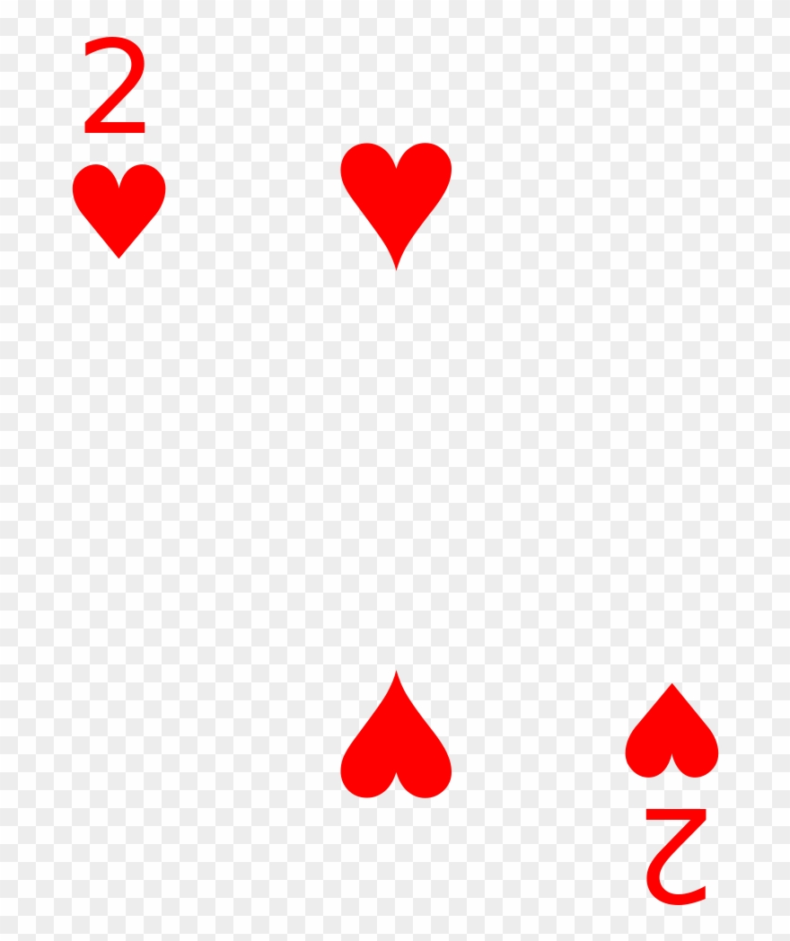 Rainbow deck cards clipart vector free Cards 2 Heart - Heart 2 Of Playing Cards Clipart (#1777075 ... vector free