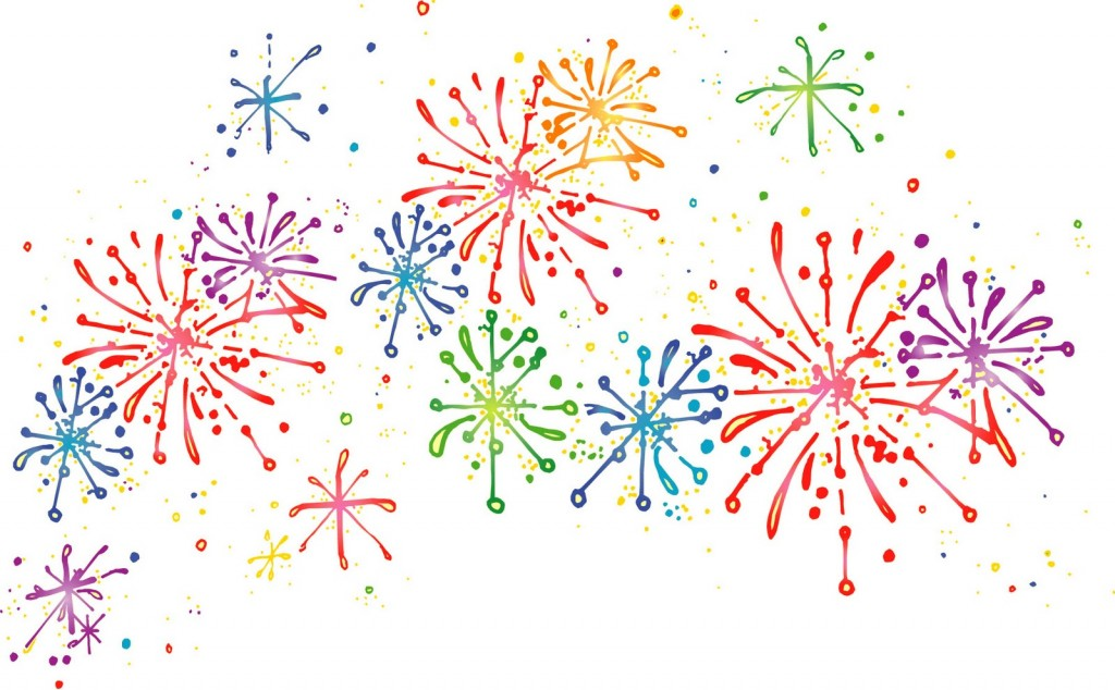 Rainbow fireworks clipart graphic stock Fireworks clipart 4 - ClipartAndScrap graphic stock