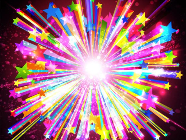 Rainbow fireworks clipart image freeuse download Rainbow Fireworks Cliparts 4 - 900 X 880 - Making-The-Web.com image freeuse download