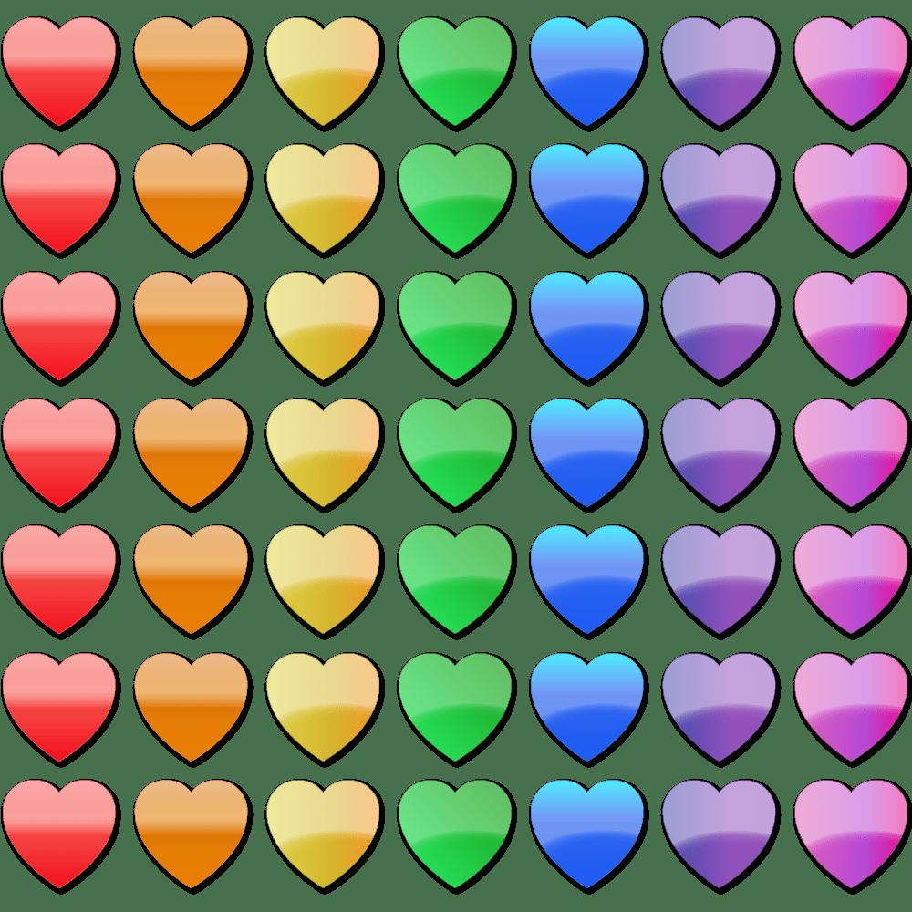 Rainbow heart clipart banner royalty free library Stock Clip Art – Rainbow Hearts   Clip Art Department banner royalty free library