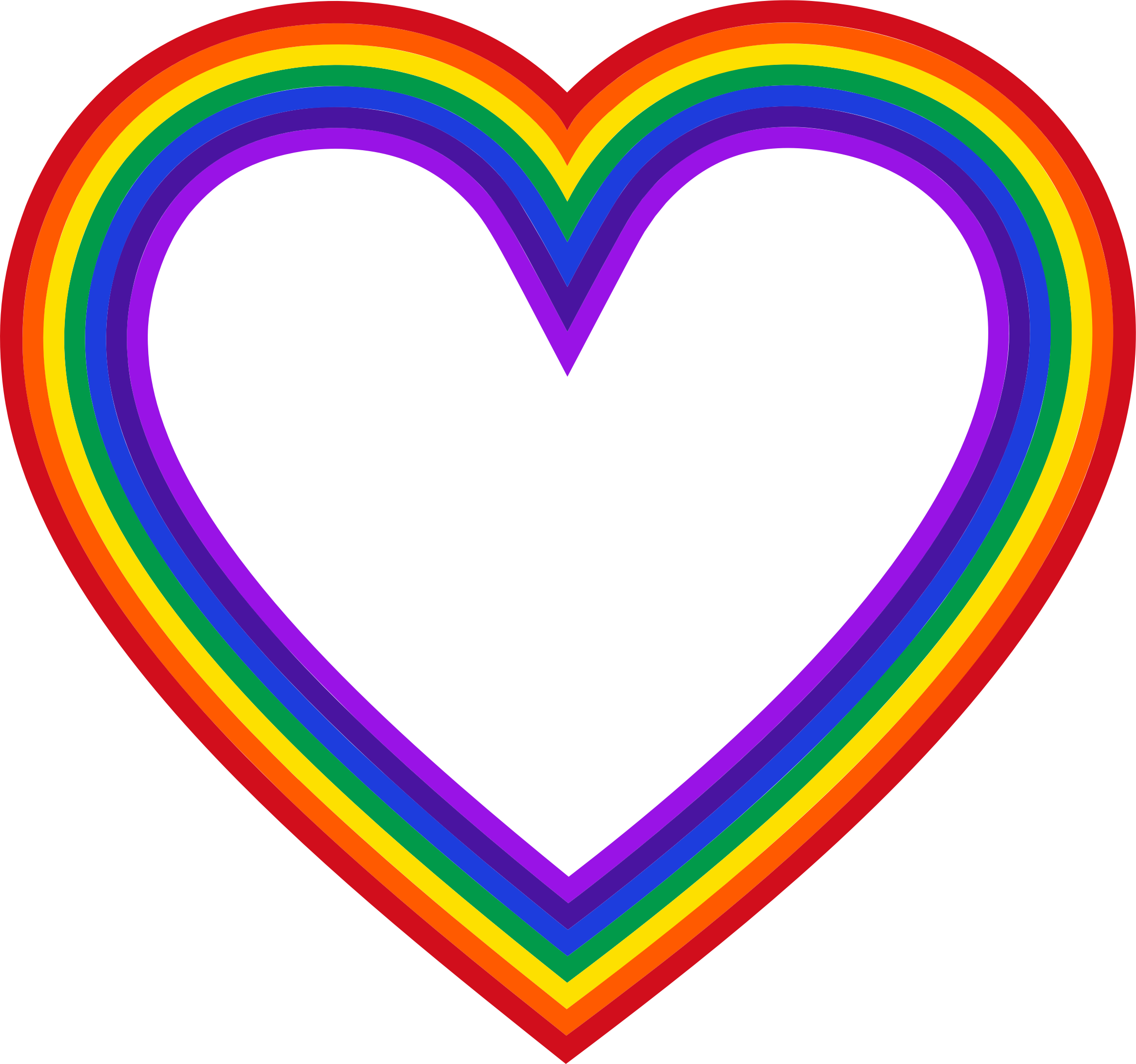 Rainbow heart clipart clipart royalty free download Clipart - Heart Rainbow Mark II clipart royalty free download