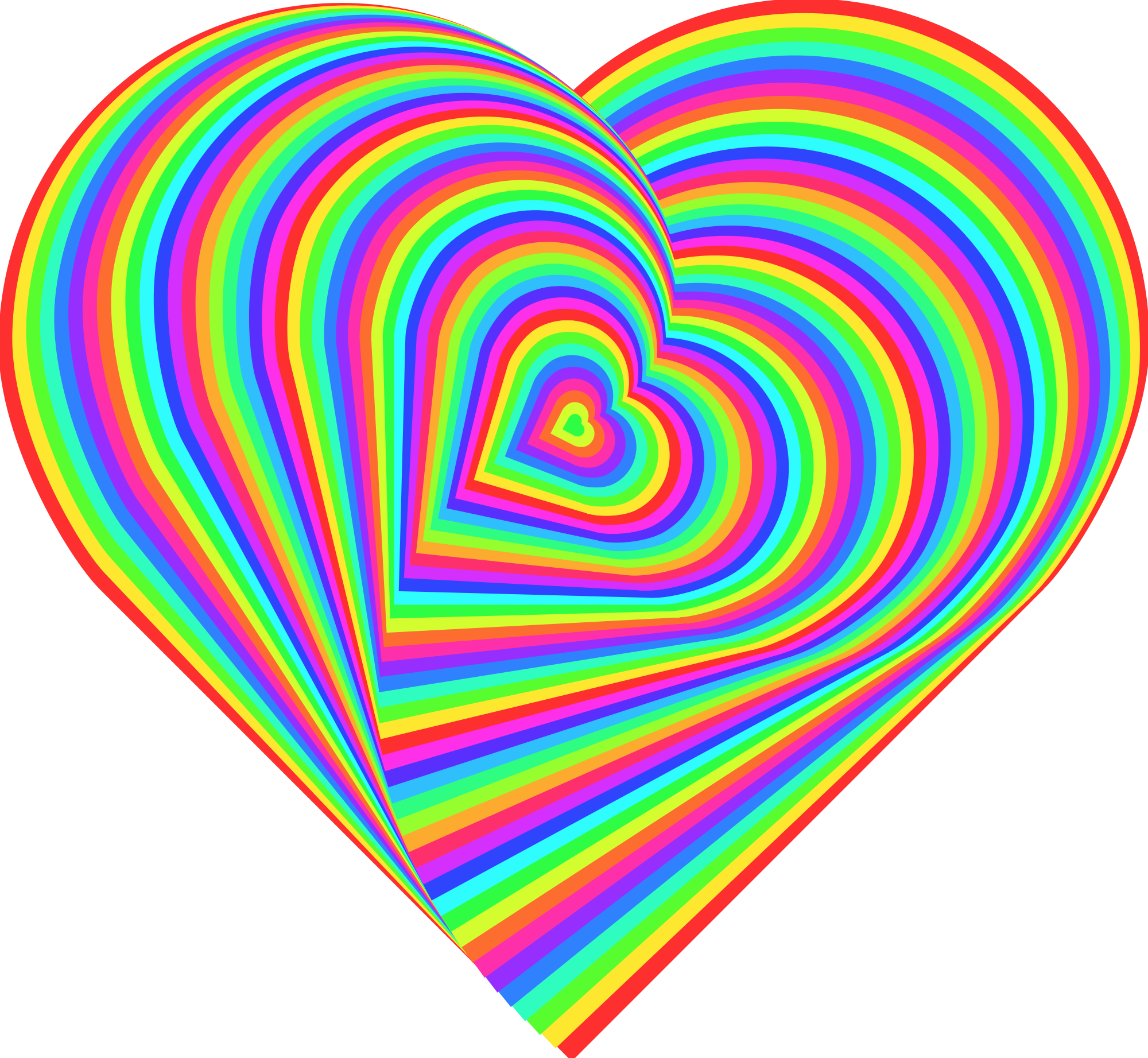Rainbow heart clipart image black and white File:Love Heart rainbow 01.svg - Wikimedia Commons image black and white