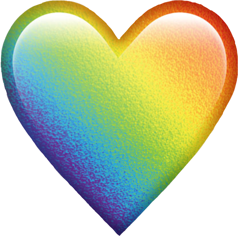 Rainbow heart clipart png freeuse download rainbow colorful colors emoji heart emojiheart freetoed... png freeuse download