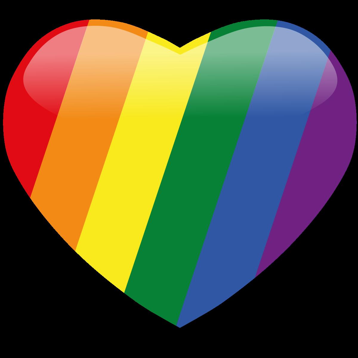 Rainbow heart clipart clip art library Rainbow Heart Png clip art library