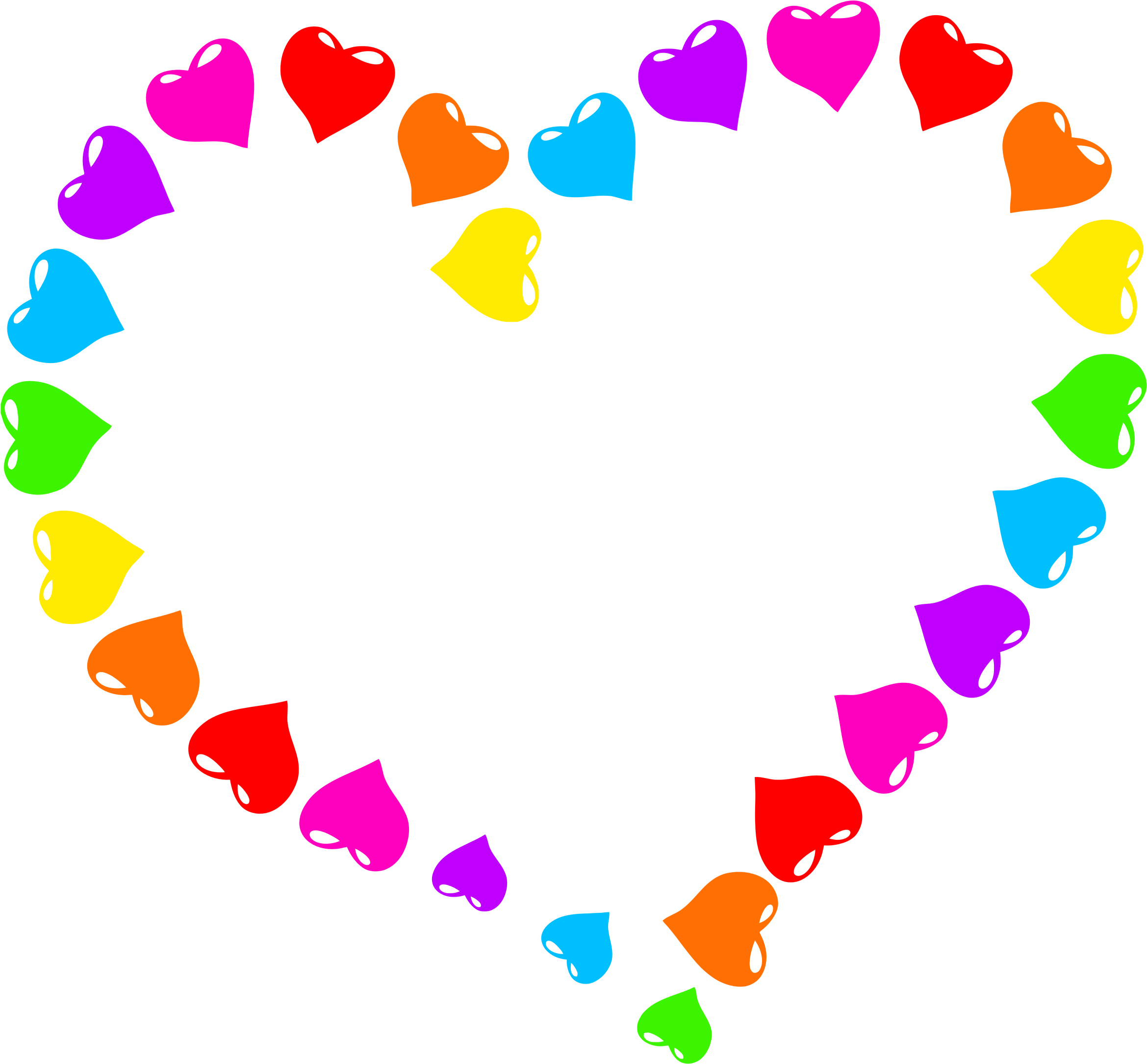 Rainbow heart clipart image transparent Clipart - Rainbow Heart image transparent