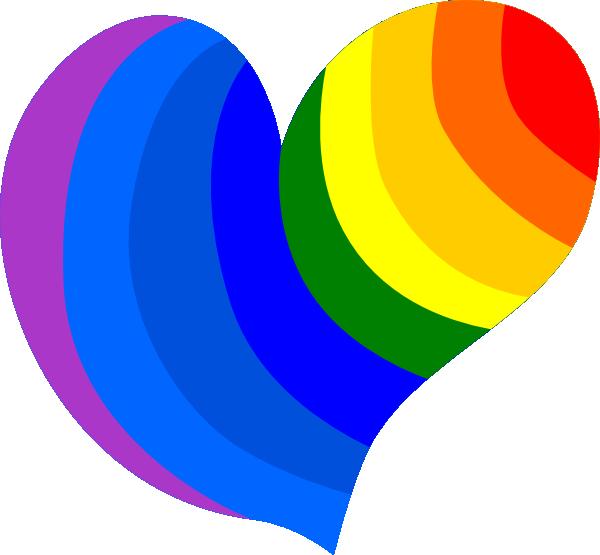 Rainbow heart clipart image black and white library Rainbow Heart Clip Art at Clker.com - vector clip art online ... image black and white library