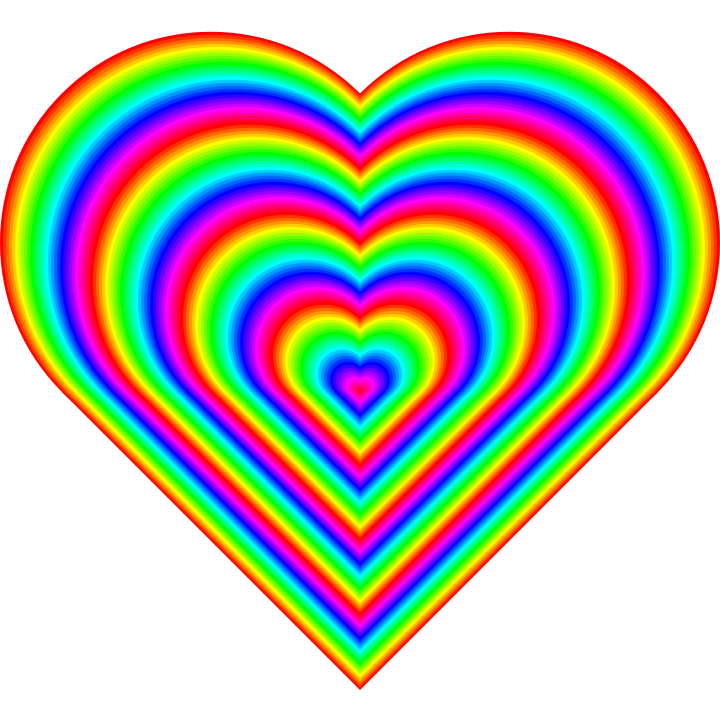 Tie dye heart clipart vector transparent download Images of Rainbow Heart Wallpaper - #SpaceHero vector transparent download