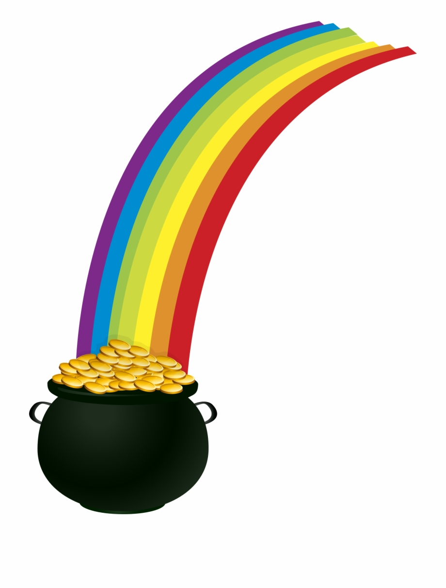 Rainbow pot of gold clipart free svg freeuse library Rainbow Png - Pot Of Gold Rainbow Clipart Free PNG Images ... svg freeuse library