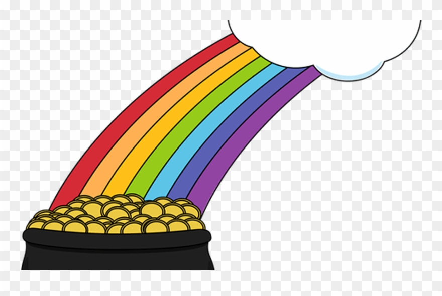 Free Rainbow And Pot Of Gold Clipart, Download Free - Pot Of ... picture black and white