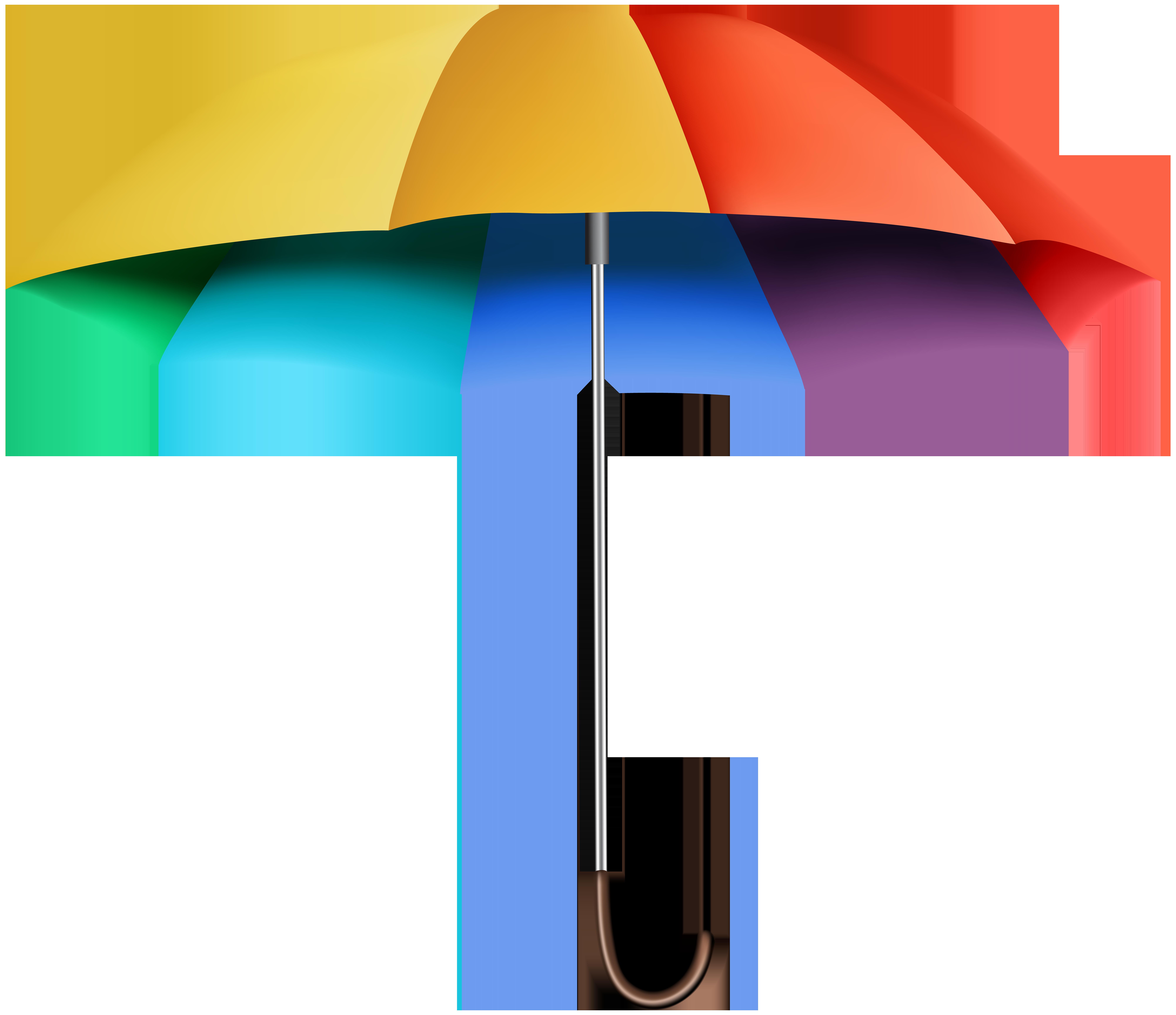 Rainbow pumpkin clipart image free Rainbow Umbrella Transparent Clip Art Image | Gallery Yopriceville ... image free