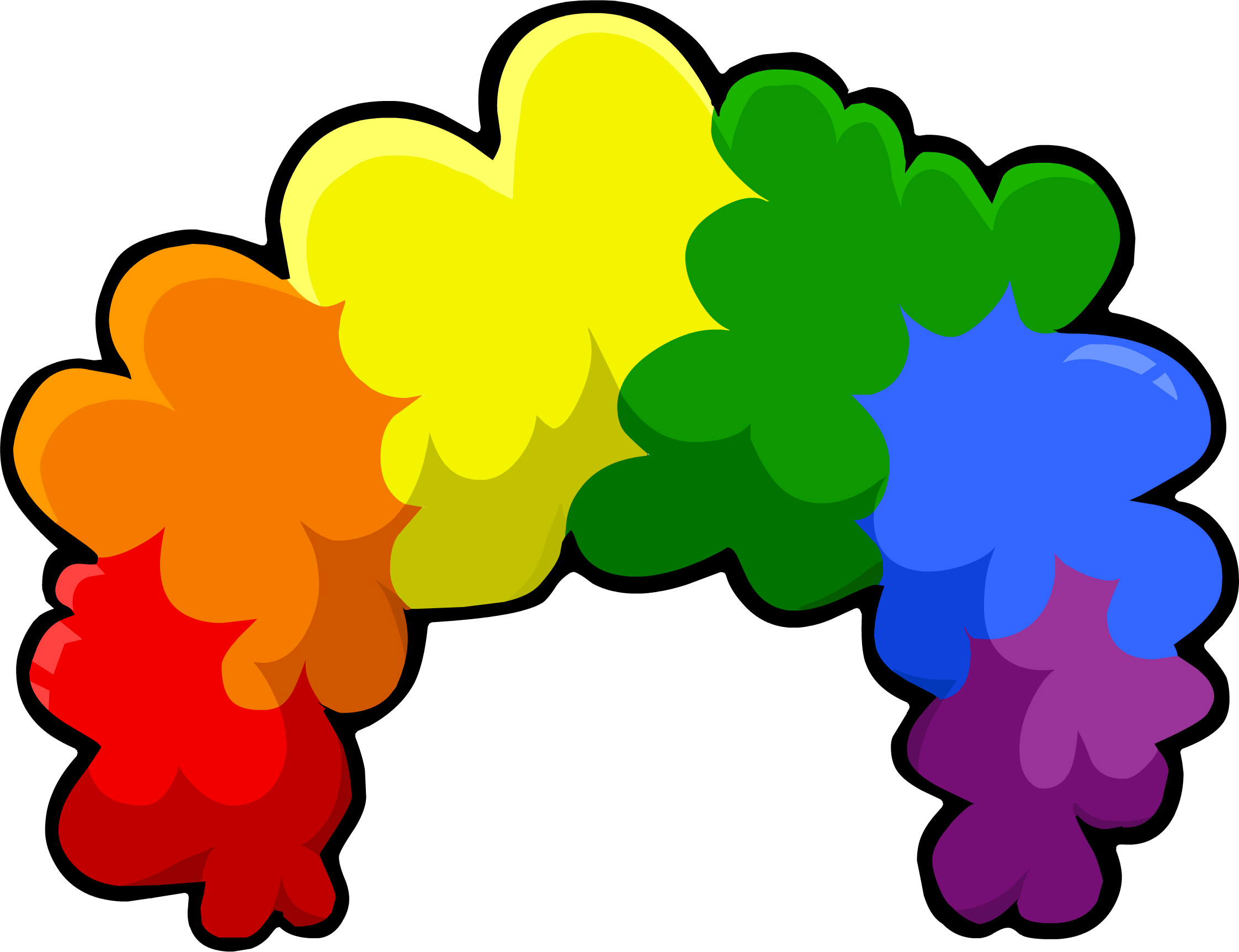 Rainbow pumpkin clipart jpg library Rainbow Fro | Club Penguin Wiki | FANDOM powered by Wikia jpg library