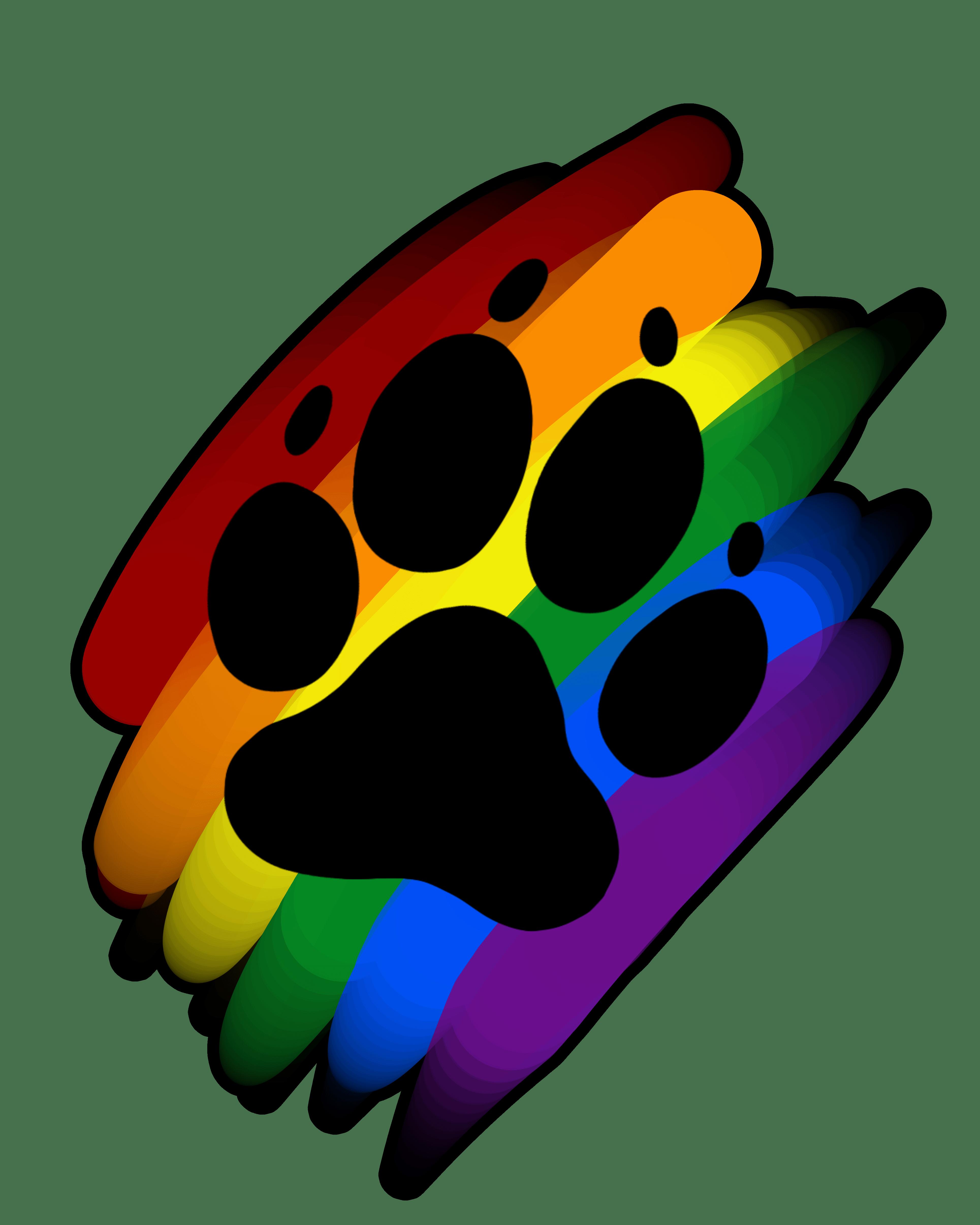 Rainbow pumpkin clipart image free stock Rainbow paw print marker | Artworktee image free stock