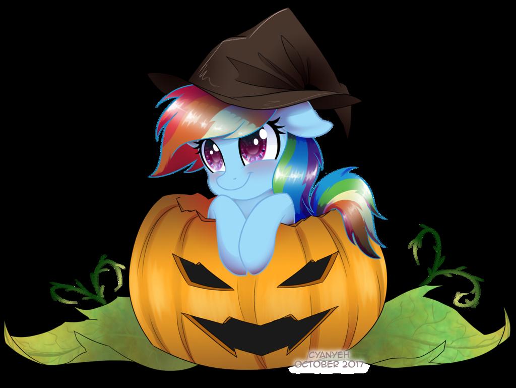 Rainbow pumpkin clipart jpg free stock 1574547 - artist:cyanyeh, clothes, cute, dashabetes, halloween, hat ... jpg free stock