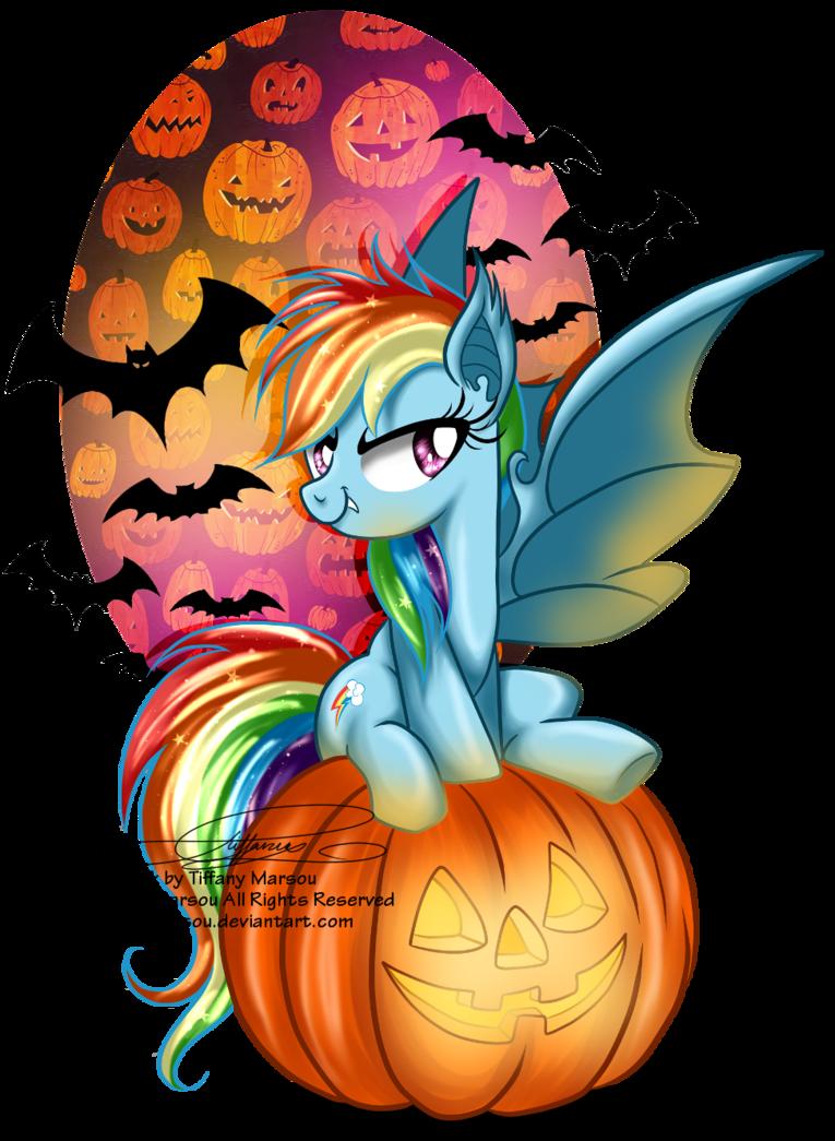 Rainbow pumpkin clipart freeuse Rainbow Bat by selinmarsou on DeviantArt freeuse