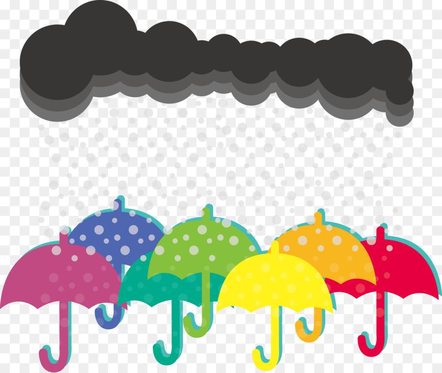 Rainbow rain clouds and umbrella free clipart clipart library stock Rain Cloud Clipart png download - 7513*6333 - Free ... clipart library stock