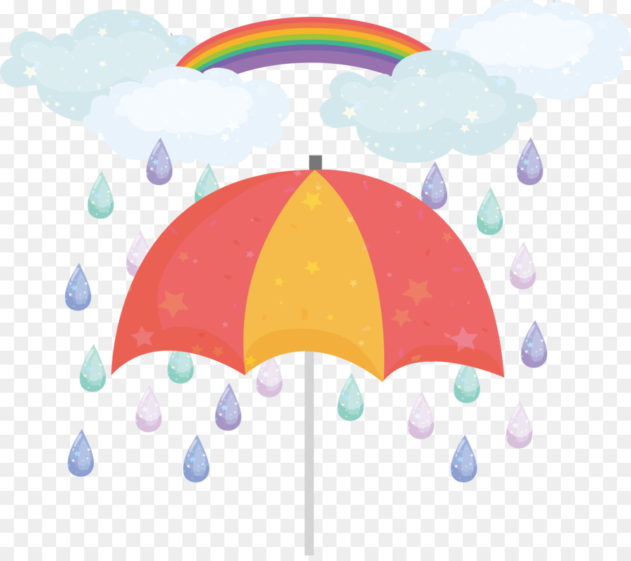 Rainbow rain clouds and umbrella free clipart graphic free library Rain Cloud Clipart png download - 3458*3044 - Free ... graphic free library