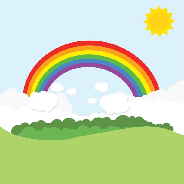 Rainbow sky clipart