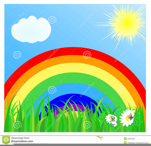 Rainbow sky clipart black and white library Clipart In Rainbow Sky | Free Images at Clker.com - vector ... black and white library
