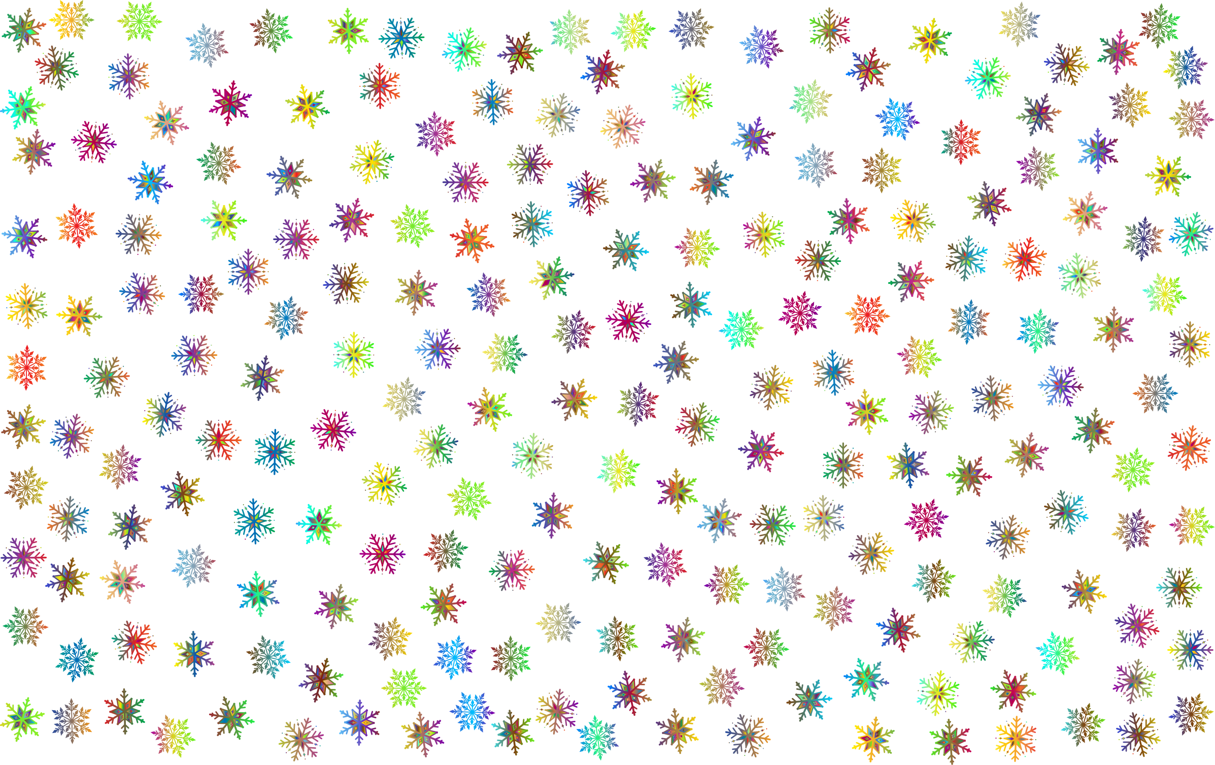Snowflake wallpaper clipart free Clipart - Prismatic Snowflakes Pattern 3 No Background free