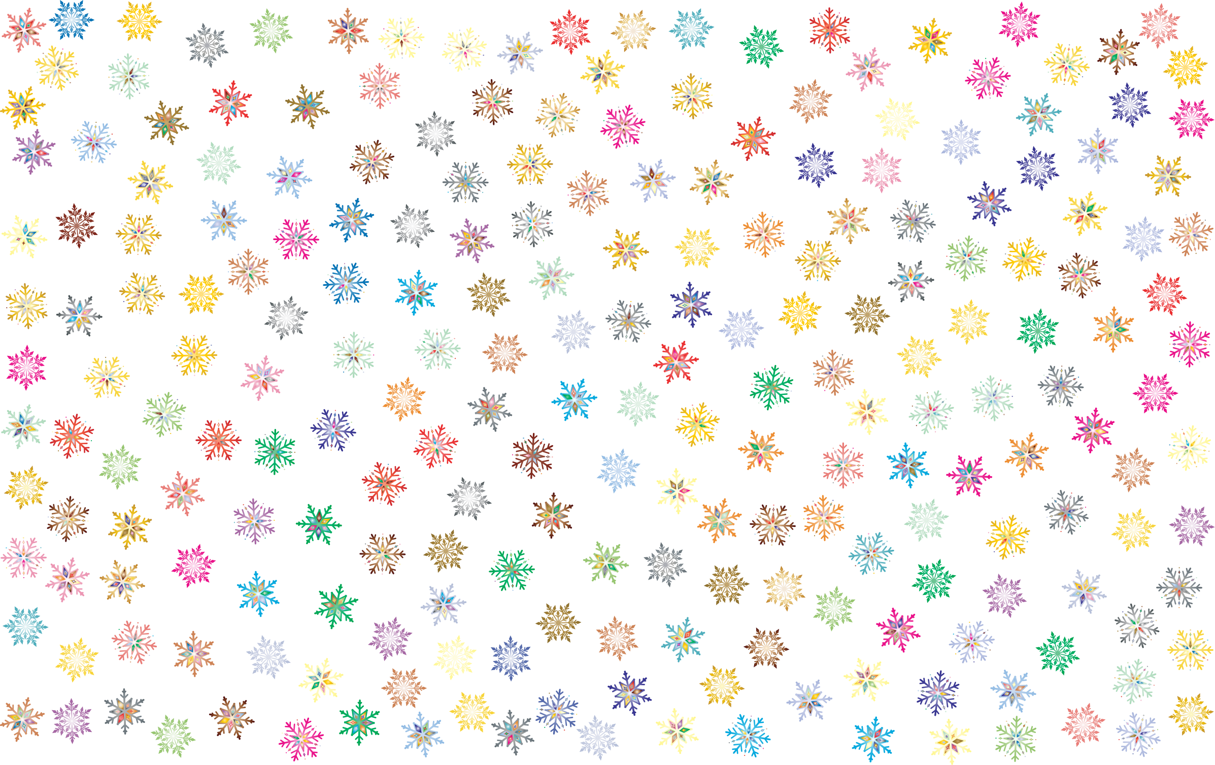Snowflake wallpaper clipart vector black and white Clipart - Prismatic Snowflakes Pattern 2 No Background vector black and white