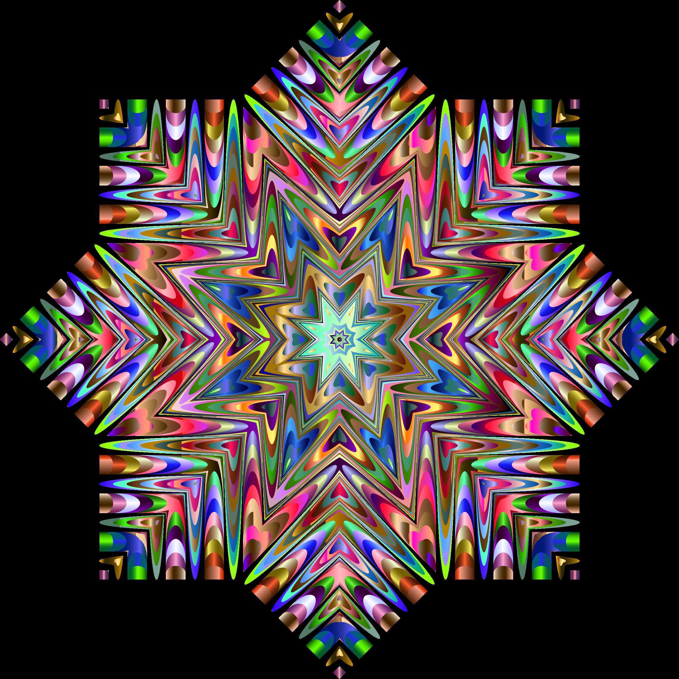 Rainbow snowflake clipart graphic transparent Clipart - Chromatic Snowflake graphic transparent