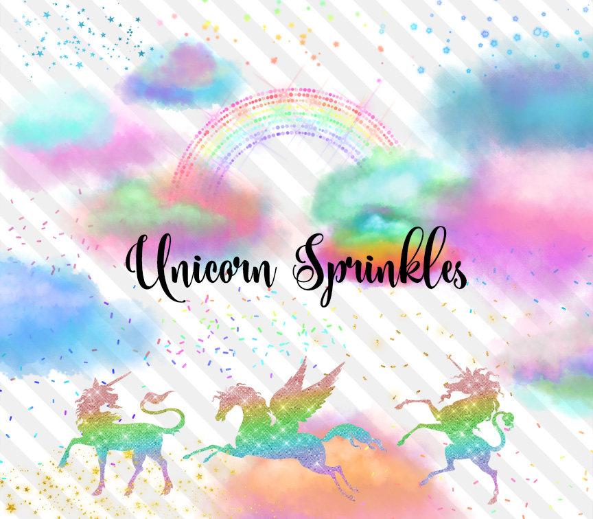 Unicorn Sprinkles Clip Art vector black and white library