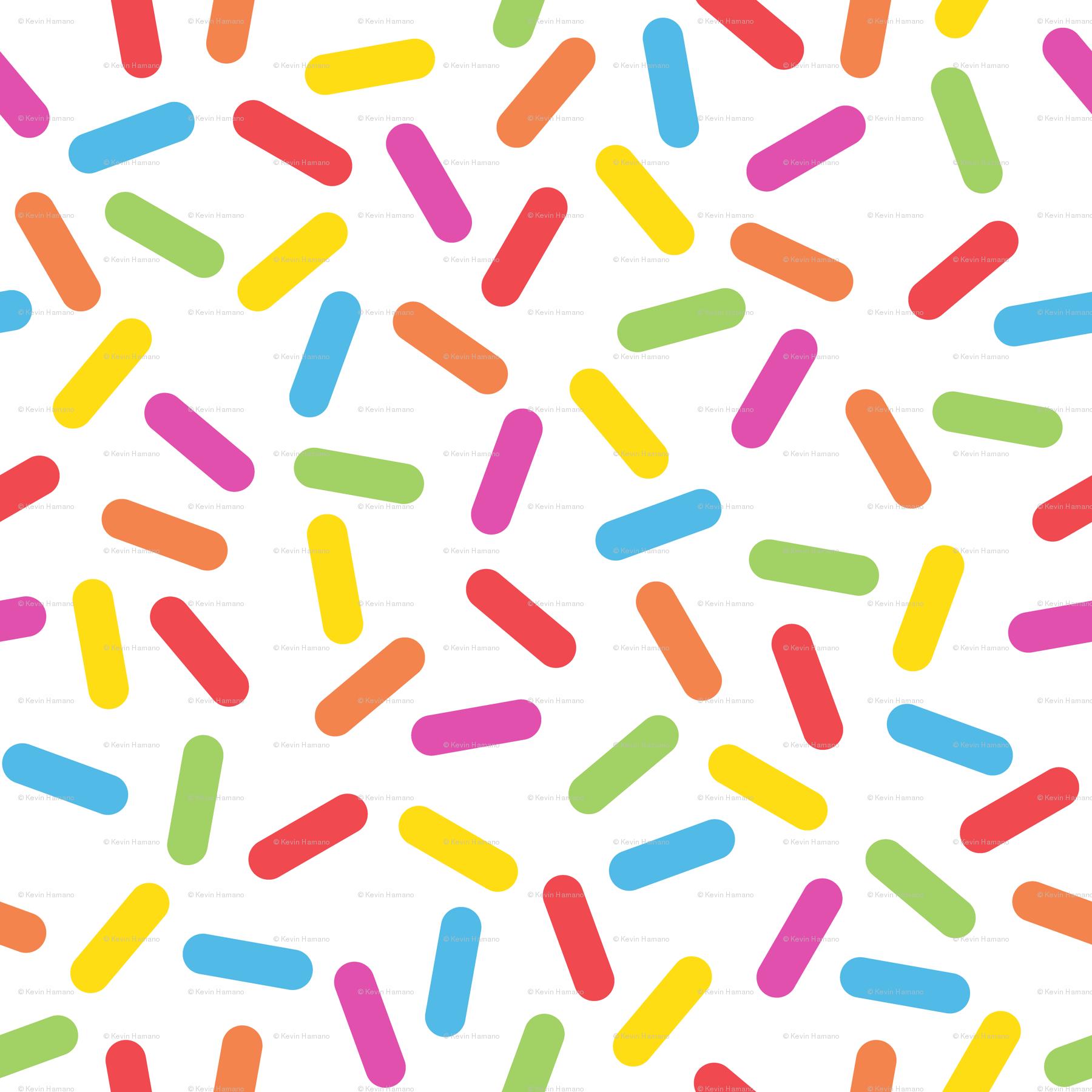 Rainbow Sprinkles wallpaper - httpkoopa - Spoonflower graphic stock